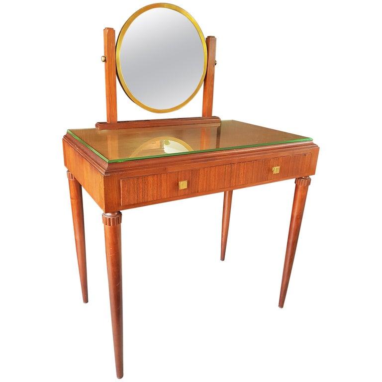 Art Deco Dresser Vanity Desk Signed by Majorelle, France, 1938 For Sale