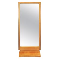 Art Deco Dressing Mirror Full Length Freestanding, Austria, circa 1930
