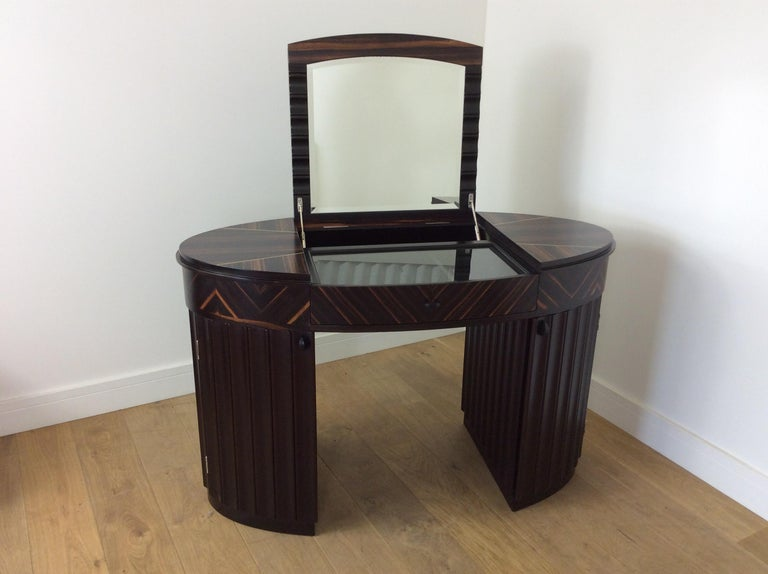 Art Deco Dressing Table and Chair For Sale 11