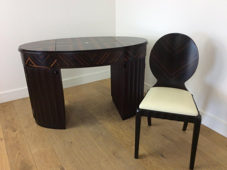 Art Deco Dressing Table and Chair For Sale 12