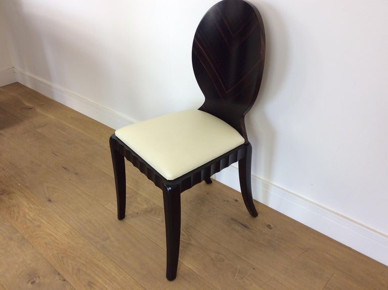 British Art Deco Dressing Table and Chair For Sale
