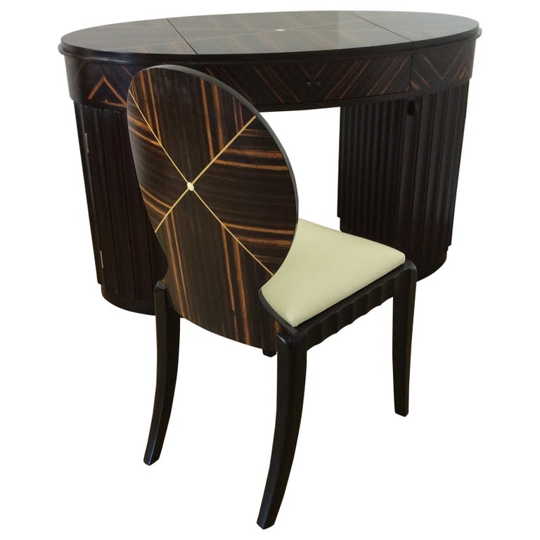 Art Deco Dressing Table and Chair For Sale