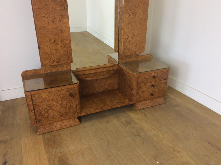 Art Deco Dressing Table In A Beautiful Bird S Eye Maple For Sale At 1stdibs