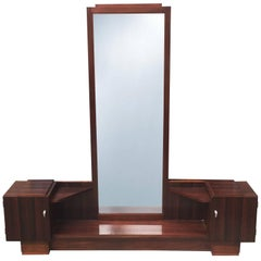 Art Deco Dressing Table in Macassar Wood by Majorelle