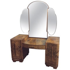 Art Deco Dressing Table with Cloud Shape Mirror
