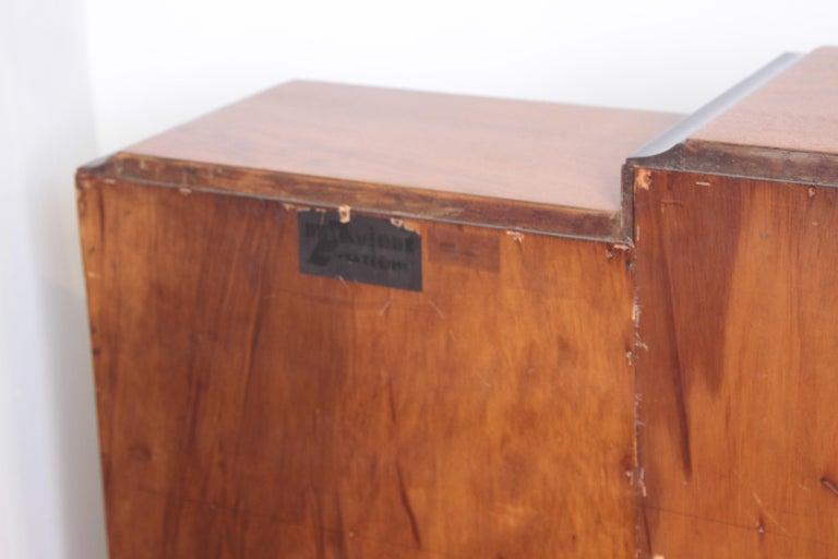 Art Deco Dynamique Creations Johnson Furniture Co. Skyscraper Bookcase Wall Unit For Sale 5
