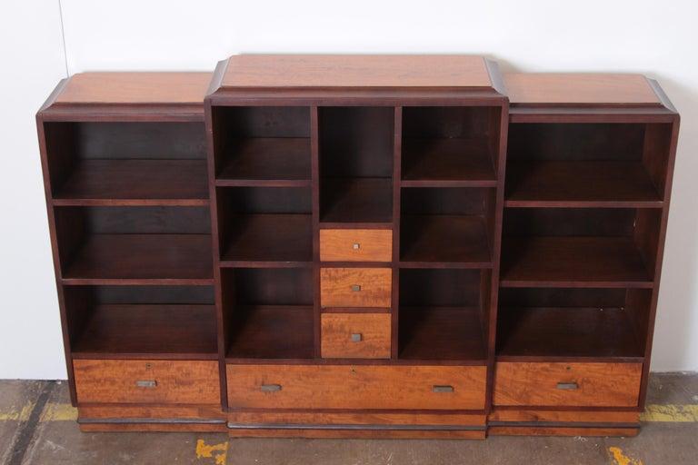 Art Deco Dynamique Creations Johnson Furniture Co. Skyscraper Bookcase Wall Unit For Sale 11