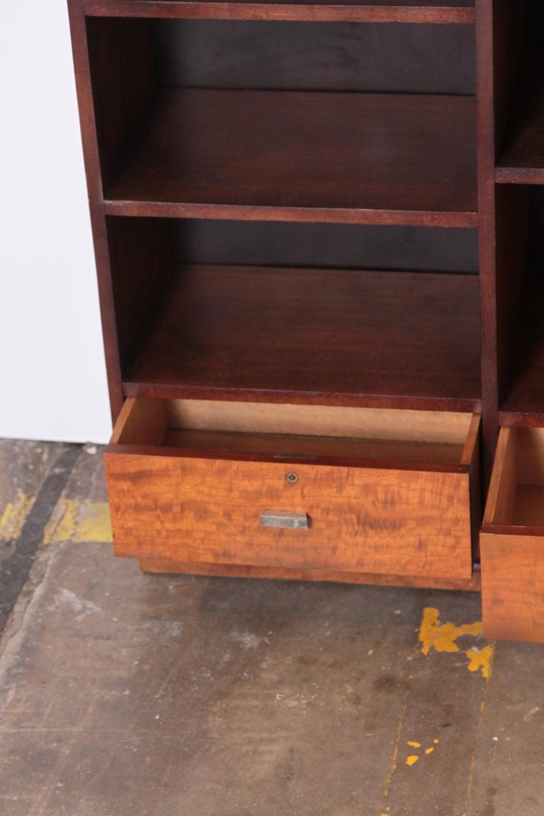 Mid-20th Century Art Deco Dynamique Creations Johnson Furniture Co. Skyscraper Bookcase Wall Unit For Sale