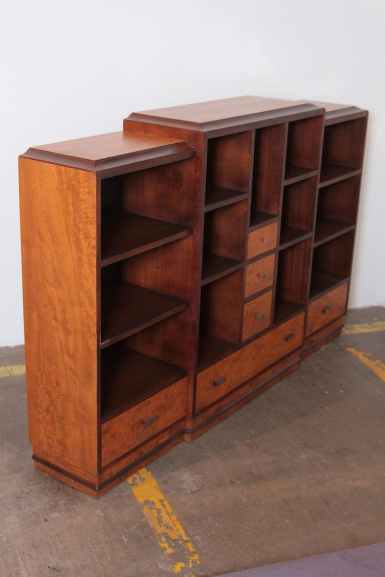 Art Deco Dynamique Creations Johnson Furniture Co. Skyscraper Bookcase Wall Unit For Sale 1