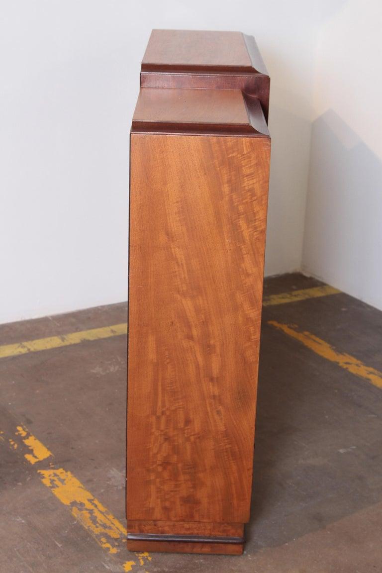 Art Deco Dynamique Creations Johnson Furniture Co. Skyscraper Bookcase Wall Unit For Sale 2