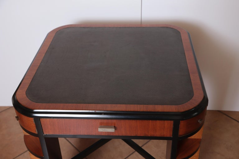 Art Deco Dynamique Creations Johnson Furniture Co. Skyscraper Game / Card Table For Sale 7