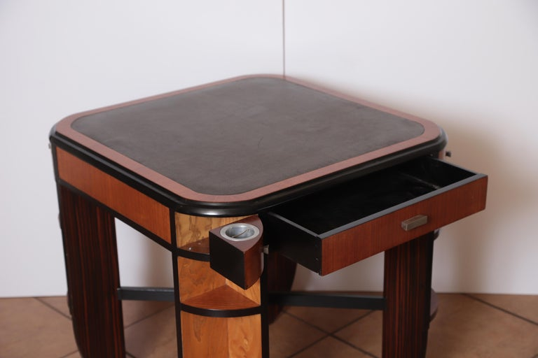 Art Deco Dynamique Creations Johnson Furniture Co. Skyscraper Game / Card Table For Sale 9