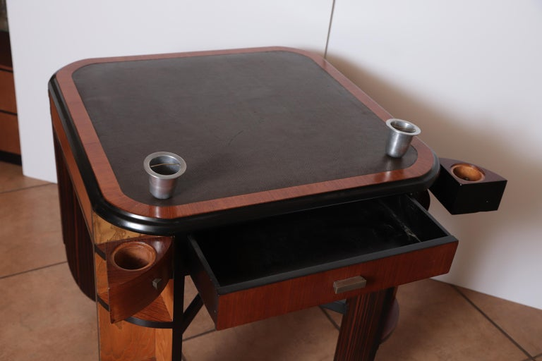 Art Deco Dynamique Creations Johnson Furniture Co. Skyscraper Game / Card Table For Sale 10