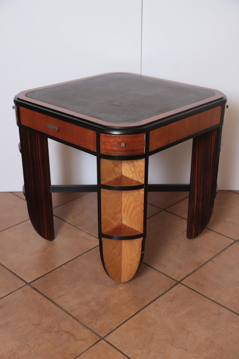 Art Deco Dynamique Creations Johnson Furniture Co. Skyscraper Game / Card / Chess Table David Robertson Smith  Important and rare early American Art Deco Machine Age Dynamique Creations piece for Johnson Handley Johnson. Groundbreaking design by