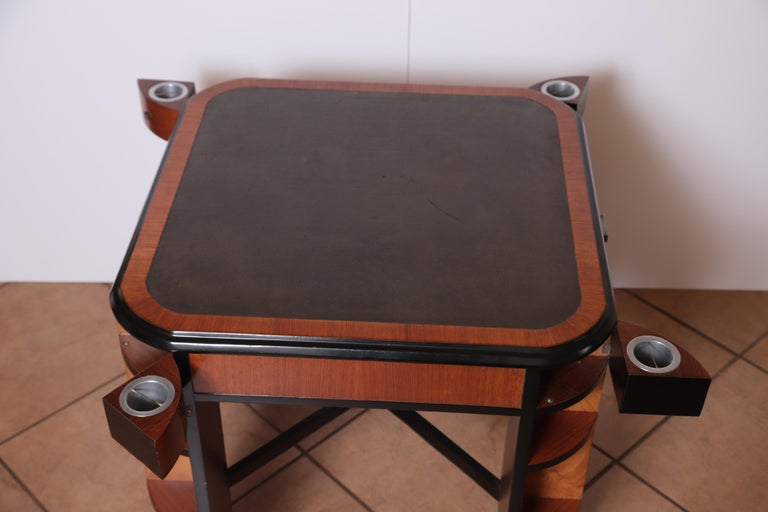 American Art Deco Dynamique Creations Johnson Furniture Co. Skyscraper Game / Card Table For Sale