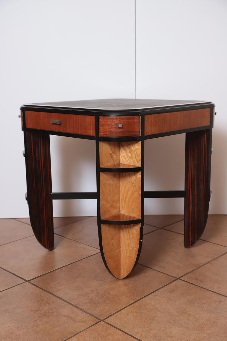 Art Deco Dynamique Creations Johnson Furniture Co. Skyscraper Game / Card Table For Sale 1