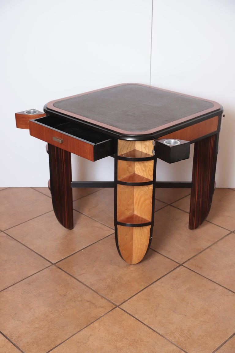 Art Deco Dynamique Creations Johnson Furniture Co. Skyscraper Game / Card Table For Sale 2
