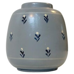 Art Deco Earthenware Vase from Knabstrup, Denmark, 1930s
