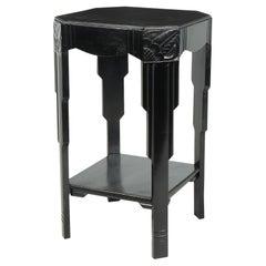 Art Deco Ebonised Piano Black Side Table