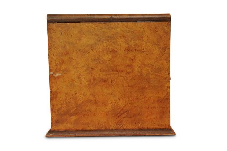 Art Deco, Edwardian Burr Walnut Desk Organizer, Includes Calendar and Storage In Good Condition For Sale In High Wycombe, Buckinghamshire