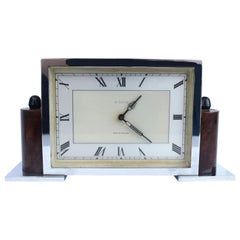 Art Deco Eight Day English Chrome Clock