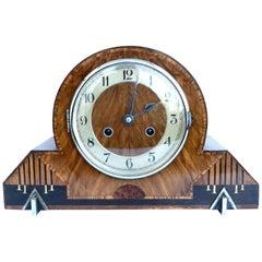 Art Deco Eight Day Striking Mantle Clock by Thomas Haller, c1930