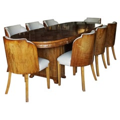 Art Deco Eight Seat Dining Suite by Harry & Lou Epstein, English, Circa 1935