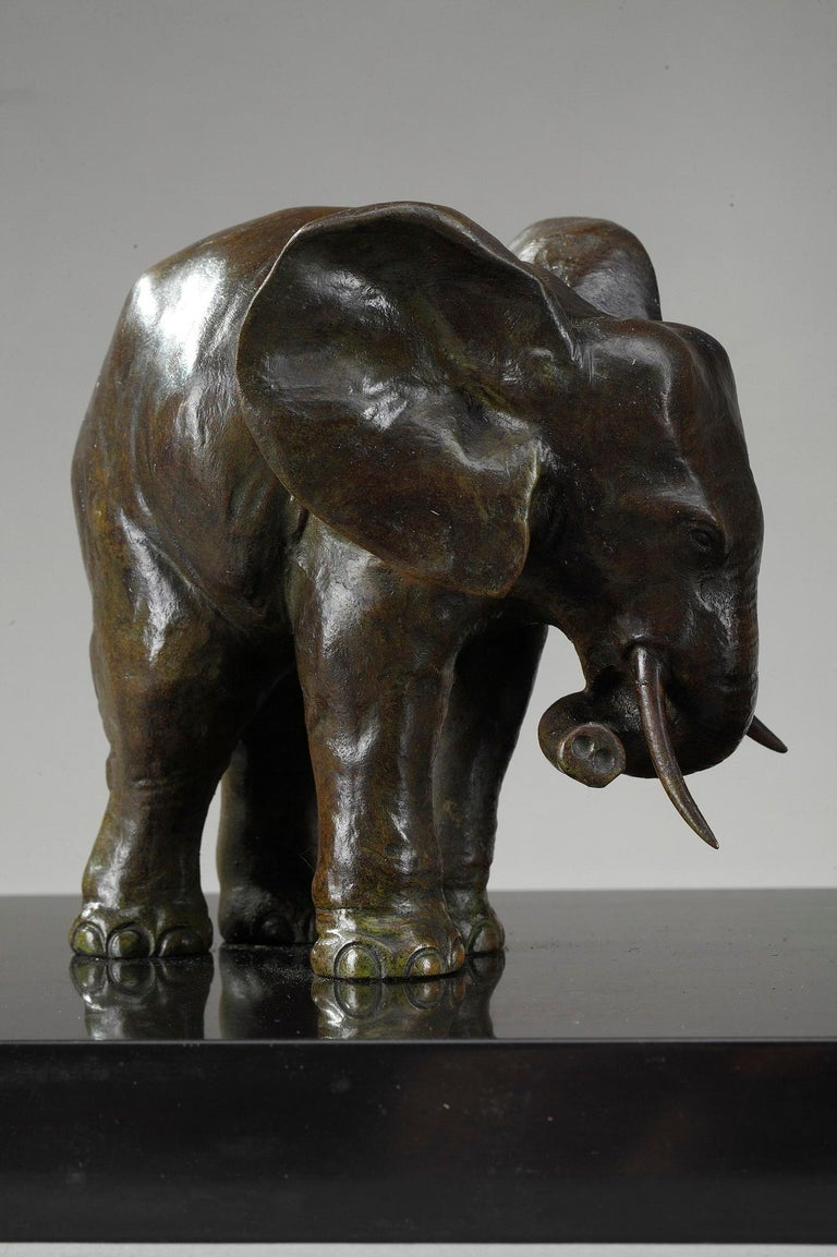 20th Century Art Deco Elephant with Its Two Baby Elephants by Ulisse Caputo For Sale