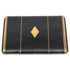Art Deco Enamel and Metal Card Case
