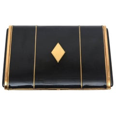 Art Deco Enamel and Metal Card Case