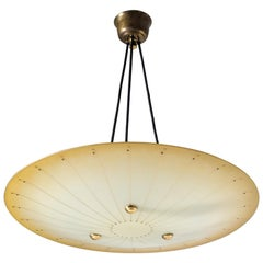Art Deco Enameled Glass Suspension Light, 1940s
