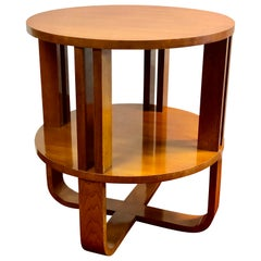 Art Deco End Table, Lamp or Wine Table Walnut Hollywood Modern