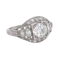 Art Deco Engagement Ring Diamond Platinum