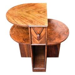 Art Deco English Burl Walnut Sectional Table