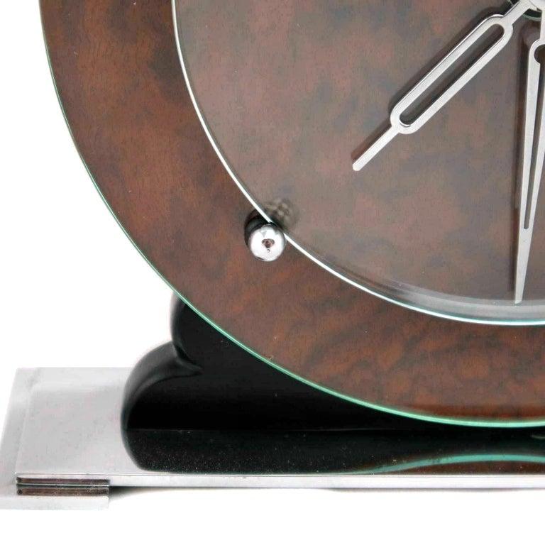20th Century Art Deco English Original 1930s Modernist Clock For Sale