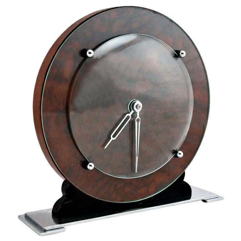 Art Deco English Original 1930s Modernist Clock For Sale