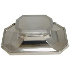 Art Deco English Sterling Silver Inkwell by Deakin and Francis, 1933