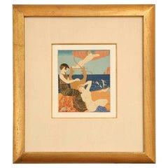 Art Deco Engraving by George Barbier from Chansons De Bilitis