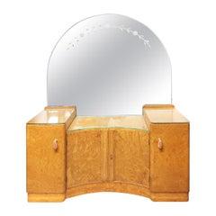 Art Deco Epstein Dressing Table in Burr Walnut