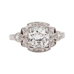 Art Deco Era 1.32 Carat Old European Cut Diamond Tiffany & Co. Engagement Ring