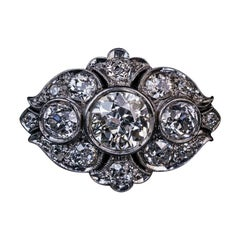 Art Deco Era Ornate Diamond and Platinum Ring