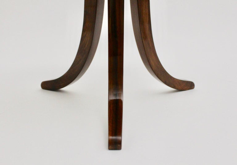 Art Deco Era Vintage Walnut Side Table by Josef Frank circa 1925 Austria For Sale 7