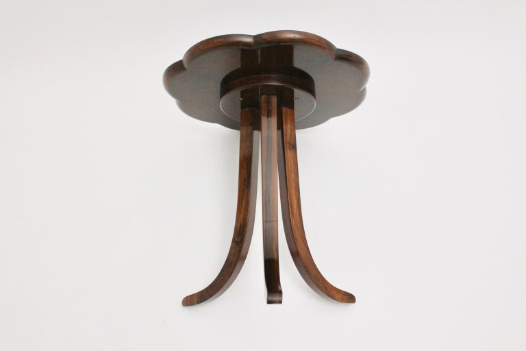 Art Deco Era Vintage Walnut Side Table by Josef Frank circa 1925 Austria For Sale 8