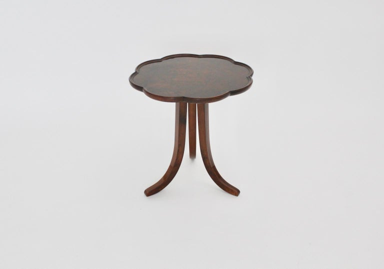 Early 20th Century Art Deco Era Vintage Walnut Side Table by Josef Frank circa 1925 Austria For Sale