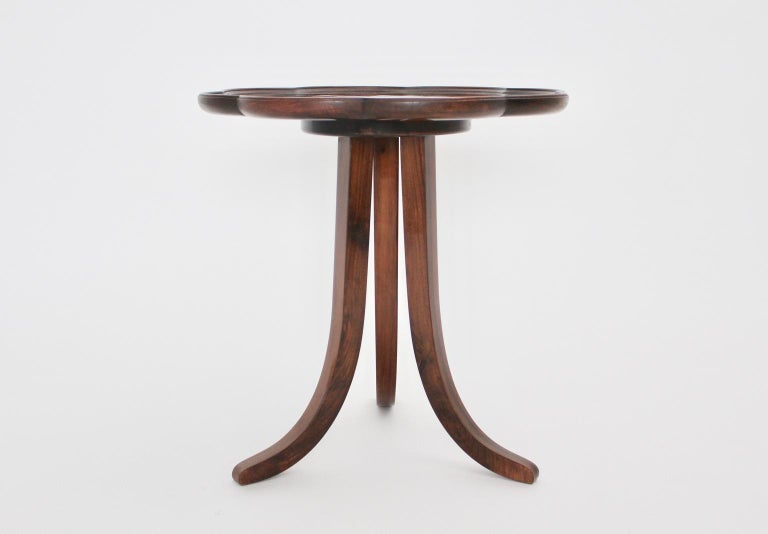Art Deco Era Vintage Walnut Side Table by Josef Frank circa 1925 Austria For Sale 1