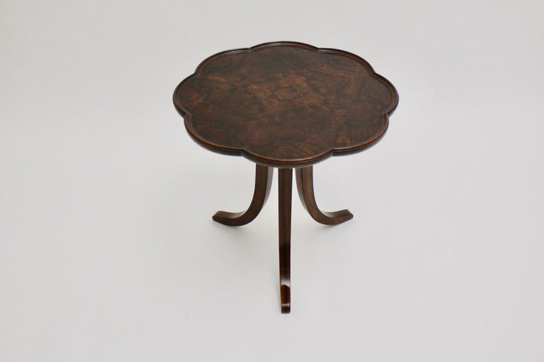 Art Deco Era Vintage Walnut Side Table by Josef Frank circa 1925 Austria For Sale 2