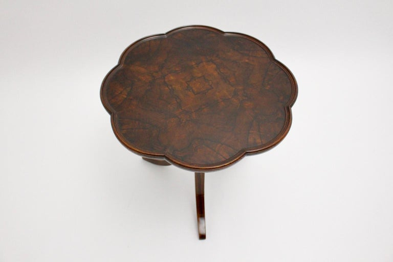 Art Deco Era Vintage Walnut Side Table by Josef Frank circa 1925 Austria For Sale 3
