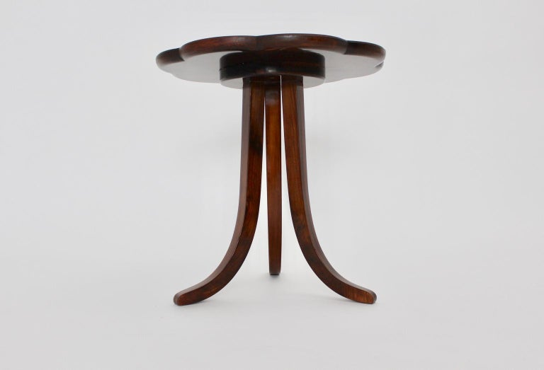 Art Deco Era Vintage Walnut Side Table by Josef Frank circa 1925 Austria For Sale 4