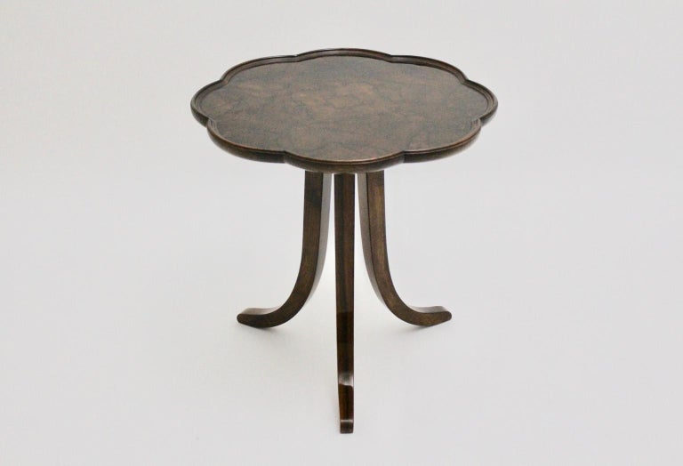 Art Deco Era Vintage Walnut Side Table by Josef Frank circa 1925 Austria For Sale 5