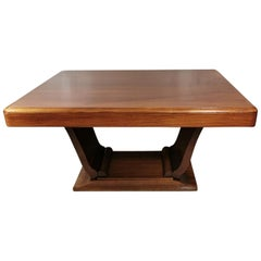 Art Deco Extendable Dining Table in Fine Exotic Wood, France, 1930